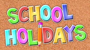 End of School Year - School closes at 1.00pm